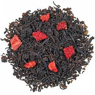 Erdbeer Sahne aromatisierte Schwarztee Mischung