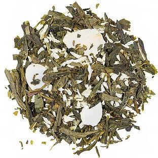 Mandelplätzchen aromatisierte Grüntee Mischung