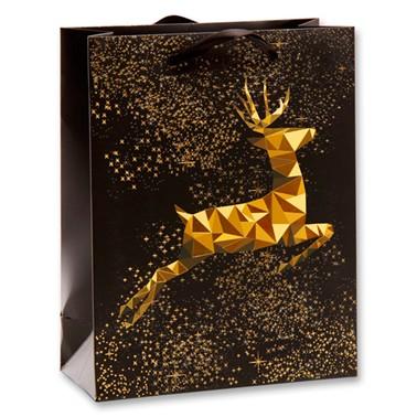 Geschenktasche goldener Hirsch