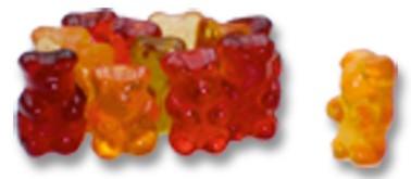 12 Frucht Mischung kleine Bären