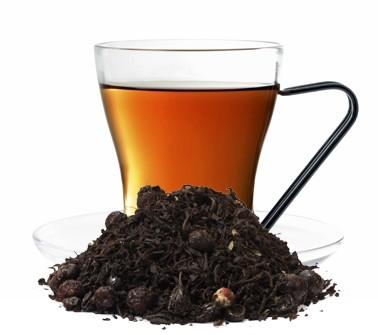 Black Currant aromatisierte Schwarztee Mischung