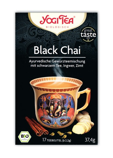 Yogi Tee Black Chai Aufgussbeutel bio