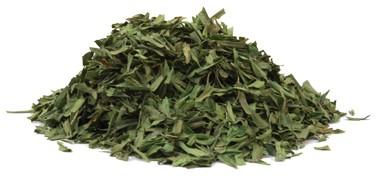 Estragonblätter geschnitten
