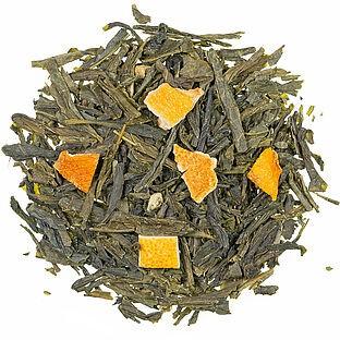 Orange Bio aromatisierte Grüntee Mischung