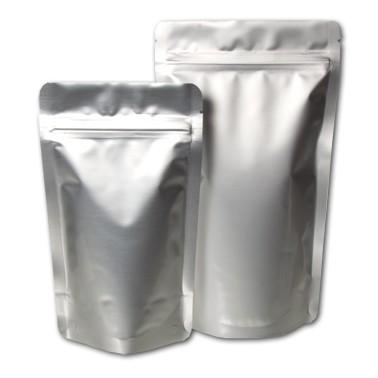 Standbodenbeutel silber 10 Stück (Doypack)