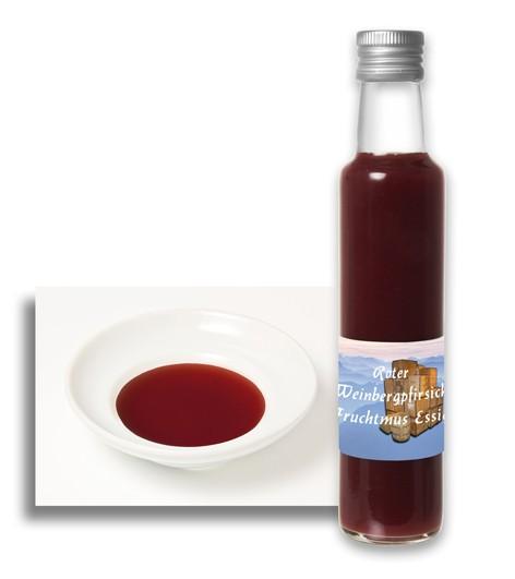 Roter Weinbergpfirsich Fruchtmus Essig