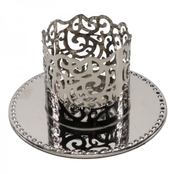 """Kerzenleuchter """"Ornament"""" 5cm SILBER"""