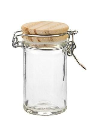 Bügelglas mit Holzdeckel 60 ml