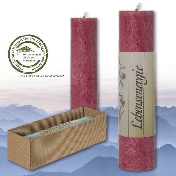 Lebensenergie - Heilkräuter Kerze