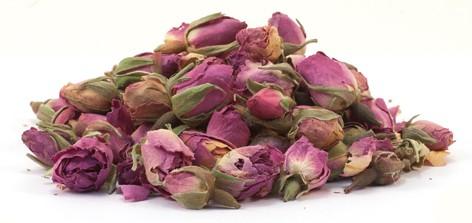 Rosenknospenblüten handverlesen ganz, pink