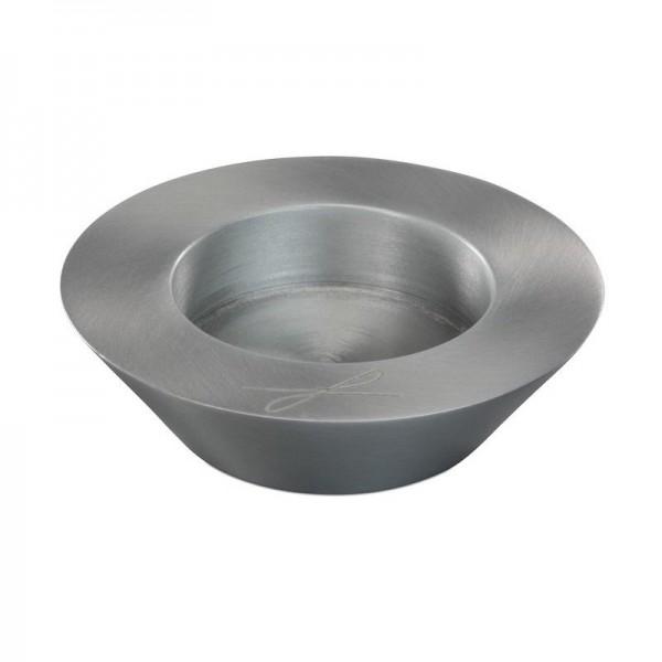 """Kerzenleuchter """"Schale"""" 5cm Silber"""