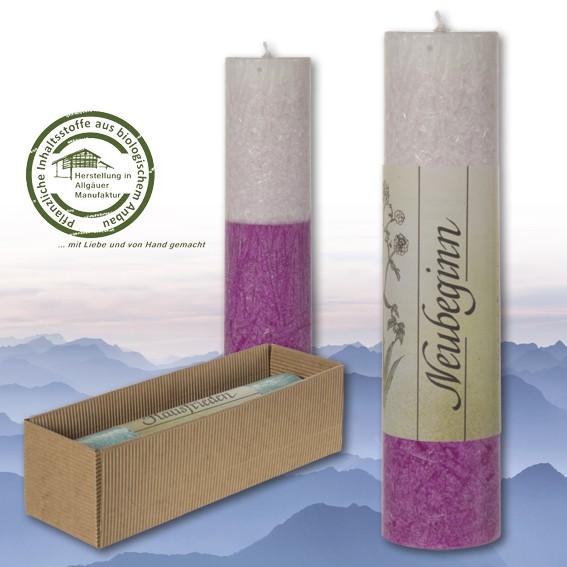 Neubeginn - Heilkräuter Kerze