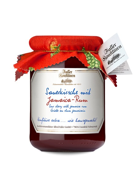 Sauerkirsch Konfitüre mit Jamaica-Rum