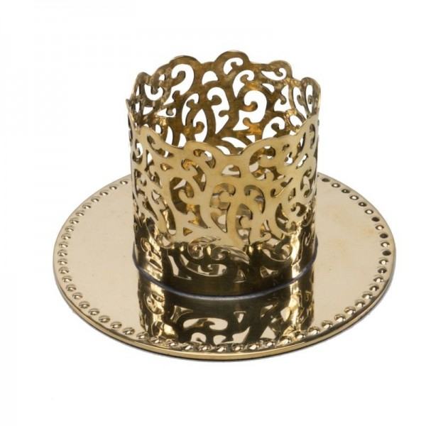 """Kerzenleuchter """"Ornament"""" 5cm GOLD"""