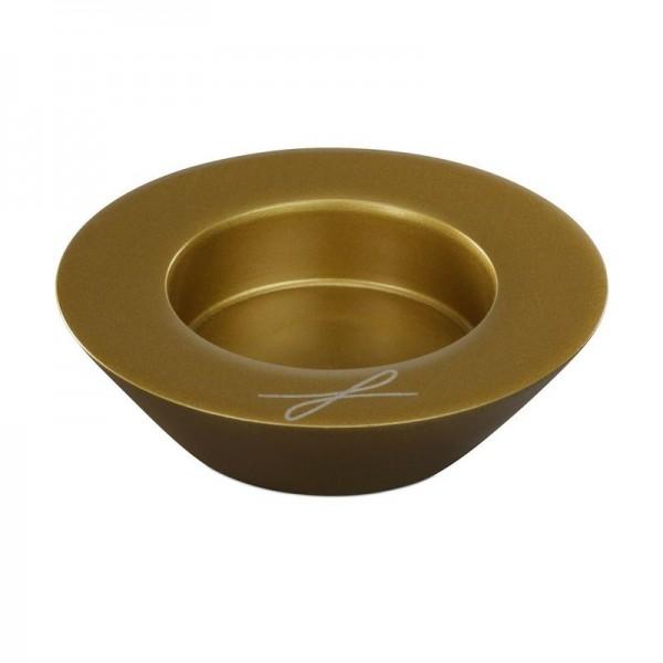 """Kerzenleuchter """"Schale"""" 5cm GOLD"""