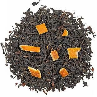 Orange aromatisierte Schwarztee Mischung