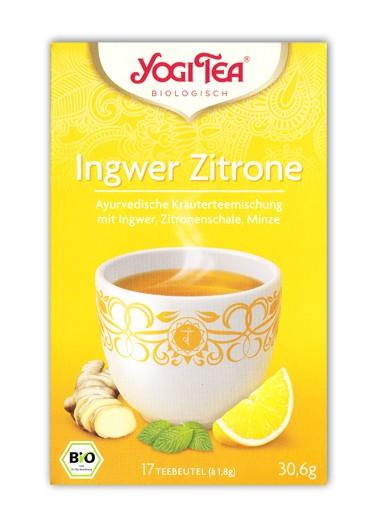 Ingwer Zitrone Tee Aufgussbeutel bio