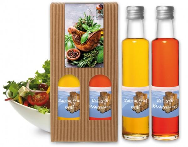 Balsam Essig weiß & Kräuteröl Mediterraneo